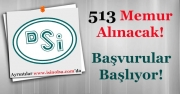 Devlet Su İşleri (DSİ) 513 Memur Alımı Yapacak! Başvurular Başlıyor