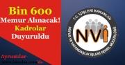 Nüfus Müdürlükleri Bin 600 Memur Alacak! Kadro Dağılımları Duyuruldu!