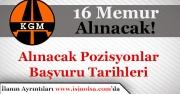 Karayolları Genel Müdürlüğü 16 Memur Alımı Yapacak! Tüm Pozisyonlar