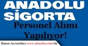 Anadolu Sigorta Memur ve Personel Alıyor!