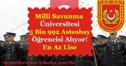 Milli Savunma Üniversitesi 5 Bin 992 Astsubay Öğrencisi Alıyor! En Az Ortaöğretim Mezunu