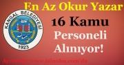 Kangal Belediye Başkanlığı En Az Okur Yazar 16 Kamu Personeli Alıyor!
