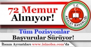 Adalet Bakanlığı 72 Memur Alımı Başvuruları Sürüyor!
