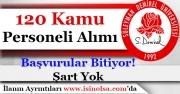 Isparta Süleyman Demirel Üniversitesi 120 Kamu Personeli Alımı Başvuruları Bitiyor!