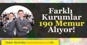 Kamu Kurumları 190 Memur ve Personel Alımı Yapılıyor!