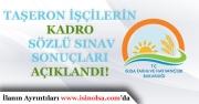 Tarım Bakanlığı Taşeron İşçilerin Kadro Sözlü Sınav sonuçlarını Açıkladı!