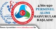 Spor ve Gümrük Bakanlığına Lise, Önlisans ve Lisans 4 Bin 950 Memur Alımı!