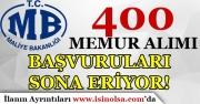 Maliye Bakanlığı GİB 400 Memur Alımı Başvuruları Sona Eriyor!