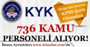KYK 3000 Kamu Personeli Alımı Ek-1 Liste İllere Göre Dağılımı