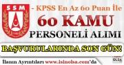 60 KPSS Puanı İle Savunma Sanayii Müsteşarlığı Kamu Personel Alımında Son Gün!