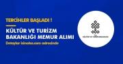 Kültür ve Turizm Bakanlığı Memur Alımlarına Tercihler Sürüyor! İşte Detaylar