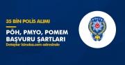 EGM 35 Bin Polis Alımı Şartları (PÖH, PMYO,POMEM,) İlan Tarihleri