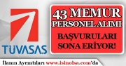 TÜVASAŞ 43 Memur Personel Alımı Yapıyor! Son Başvurular 21 Aralık 2018 Son!