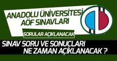 Anadolu Üniversitesi AÖF Açıköğretim Final Soruları ve Sonuçları Ne Zaman Açıklanacak