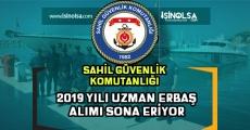 Sahil Güvenlik Komutanlığı 2019 Uzman Erbaş Alımı Sona Eriyor!