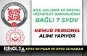 Aile Bakanlığına Bağlı 7 SYDV Memur Personel...