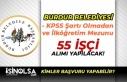 Burdur Belediyesi KPSS Şartı Olmadan 55 Kamu İşçisi...