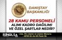 Danıştay Başkanlığı Kamu Personeli Alımı Kadro...