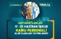 İŞKUR Haftanın Kamu Personeli Alım ilanlarını...