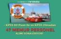 Kıyı Emniyeti Genel Müdürlüğü 47 Memur Personel...
