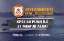 Kıyı Emniyeti Genel Müdürlüğü 60 KPSS Puanı...