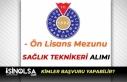 KSÜ Ön Lisans Mezunu Sağlık Teknikeri Alımı...