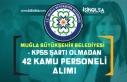 Muğla Büyükşehir Belediyesi KPSS'siz 42 Kamu...