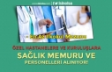 Özel Hastanelere ve Kuruluşlara Sağlık Memuru...