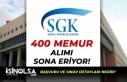 SGK 400 Memur Alımı Başvuruları Sona Eriyor! Başvuru...