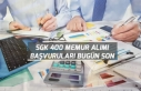 SGK 400 Memur Personel Alımı Başvuruları Bugün...