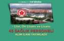 Sivas Cumhuriyet Üniversitesi 45 Sağlık Personeli...