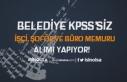 Ankara'da Belediye KPSS'siz İşçi, Şoför...