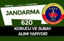 Jandarma KPSS Şartı Olmadan 620 Subay ve Korumu...