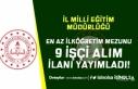 Kastamonu İl Milli Eğitim Müdürlüğü 9 İşçi...