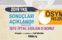ÖSYM 2019 YKS Sonuçlarını Açıkladı! AYT'de...