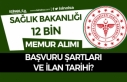 Sağlık Bakanlığı 12 Bin Memur Personel Alımı...
