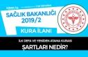 Sağlık Bakanlığı 2019/2 Atama Kurası Şartları...