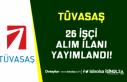 Türkiye Vagon Sanayii ( TÜVASAŞ ) 26 Sürekli İşçi...