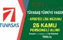 TÜVASAŞ KPSS'siz Kura İle 26 Kamu Personeli...