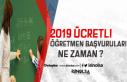 2019 Yılı Ücretli Öğretmenlik Başvuruları Yakında...