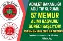 Adalet Bakanlığı ATK 57 Memur Alımı Başvuru...