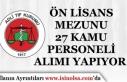 Adli Tıp Kurumu Ön Lisans Mezunu 27 Personel Alımı...