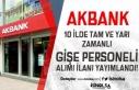 Akbank 10 İlde Tam ve Yarı Zamanlı Gişe Personeli...