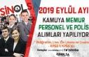 2019 Eylül Ayı Kamuya Memur, Polis ve Personel Alımları...
