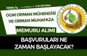 3850 Orman Mühendisi ve Muhafaza Memuru Alımları...