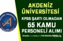 Akdeniz Üniversitesi 65 Kamu Personeli Alımı Başvuru...