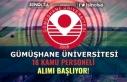 Gümüşhane Üniversitesi Duyurdu: 13 Kamu Personeli...