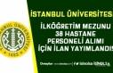 İstanbul Üniversitesi İŞKUR Üzerinden Hastane...