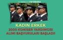 Kadın Erkek 2000 Komiser Yardımcısı Alımı Başvuruları...