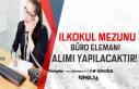 KPSS Şartsız İlköğretim Mezunu 112 Büro Memuru...
